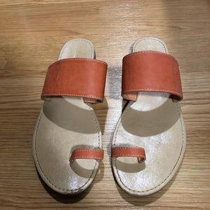 Forever 21 orange toe sandals